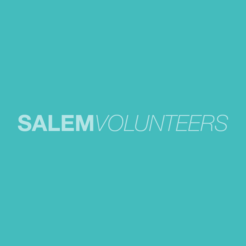 Salem Volunteers Logo Blue background